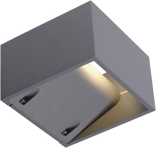 SLV Logs Wall 232104 LED-Außenwandleuchte 6 W Warm-Weiß Silber-Grau