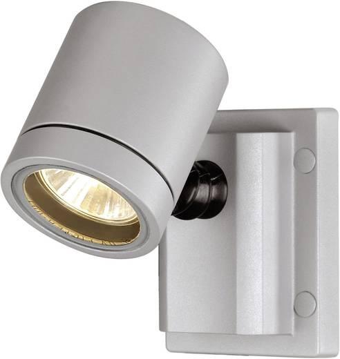 SLV New Myra Wall 233104 Außenwandleuchte Halogen GU10 50 W Silber-Grau