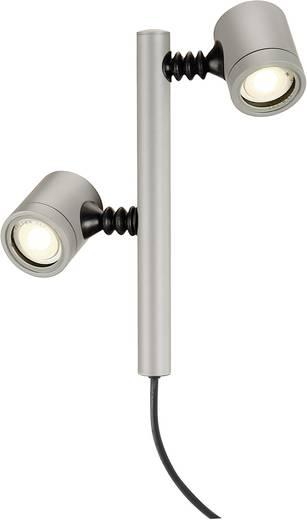 Außenstandleuchte LED GU10 9 W SLV New Myra 2 233184 Silber-Grau