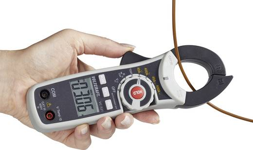 Stromzange, Hand-Multimeter digital VOLTCRAFT VC-521 (ISO) Kalibriert nach: ISO CAT III 600 V Anzeige (Counts): 4000