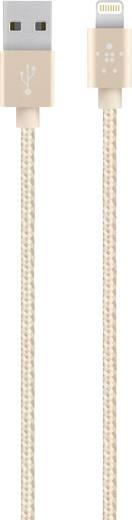 iPad/iPhone/iPod Datenkabel/Ladekabel [1x USB 2.0 Stecker A - 1x Apple Dock-Stecker Lightning] 1.20 m Gold Belkin