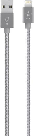 iPad/iPhone/iPod Datenkabel/Ladekabel [1x USB 2.0 Stecker A - 1x Apple Dock-Stecker Lightning] 1.2 m Grau Belkin