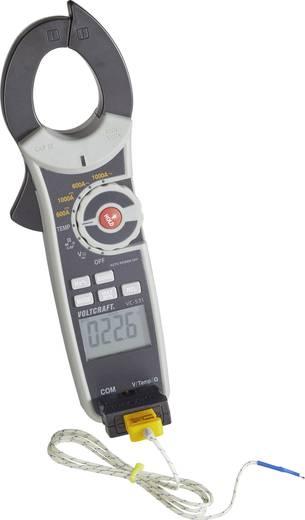 Stromzange digital VOLTCRAFT VC-531 Kalibriert nach: DAkkS CAT III 600 V Anzeige (Counts): 6000