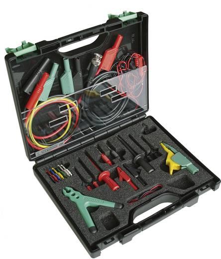 Sicherheits-Abgreifklemmen-Set Steckanschluss 4 mm, Steckanschluss 2 mm, Steckanschluss 0.64 mm CAT III 1000 V Schwarz,