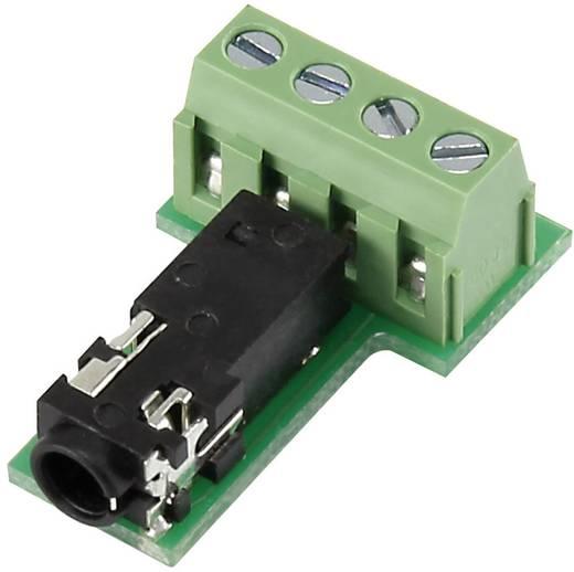 Klinken-Steckverbinder 3.5 mm Buchse, Einbau horizontal Polzahl: 4 Stereo Schwarz Conrad Components PJ3.5-4TB-1 1 St.