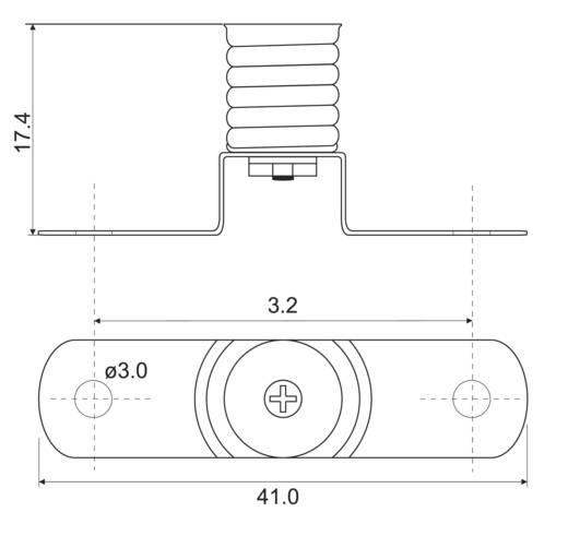 Lampenfassung Sockel: E10 Anschluss: Lötöse 1 St.
