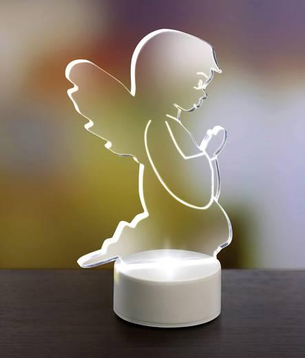 Polarlite LBA-51-010 LED-Weihnachtsdekoration Engel Kalt-Weiß LED Transparent