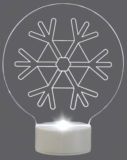 LED-Weihnachtsdekoration Schneeflocke Kalt-Weiß LED Polarlite LBA-51-008 Transparent