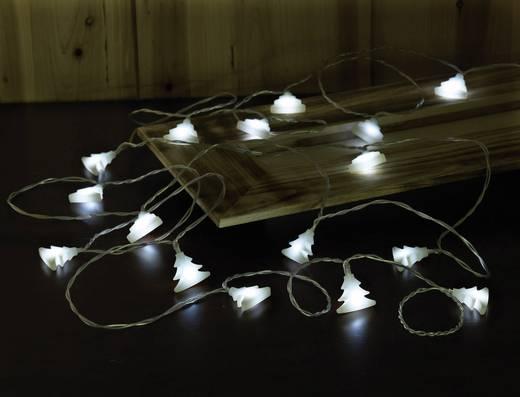 Polarlite LBA-03-006 Motiv-Lichterkette Weihnachtsbaum Innen batteriebetrieben 16 LED Weiß Beleuchtete Länge: 3.9 m