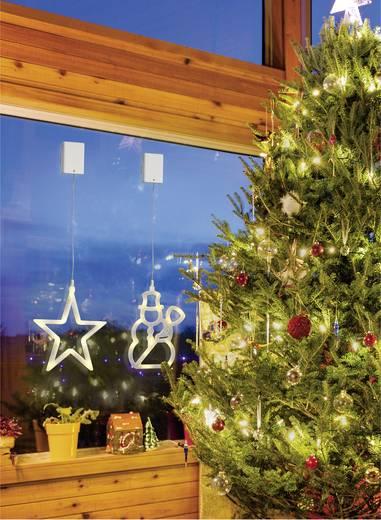 LED-Weihnachtsdekoration Stern Warm-Weiß LED Polarlite LBA-50-012 Transparent