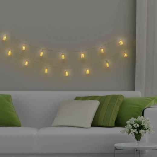 Polarlite WS-131017909 16LAP Motiv-Lichterkette Laternen Innen netzbetrieben 16 LED Warm-Weiß Beleuchtete Länge: 3.5 m
