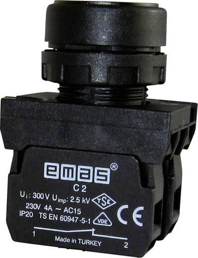 Drucktaster Betätiger flach, Frontring Kunststoff, mit Kontaktelement Grün EMAS CP102DY 1 St.