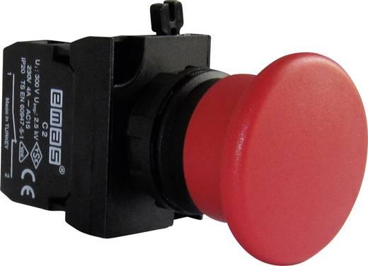 Pilztaster Frontring Kunststoff, mit Kontaktelement Rot EMAS CP200MK 1 St.