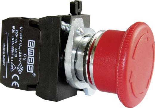 Not-Aus-Schalter Frontring Metall, mit Kontaktelement Rot Drehentriegelung EMAS CM200E 1 St.