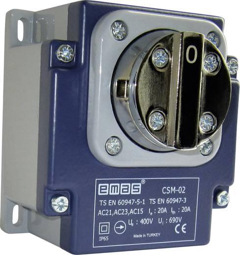 EMAS CSM02 Endschalter 400 V/AC 20 A Drehhebel rastend IP65 1 St.