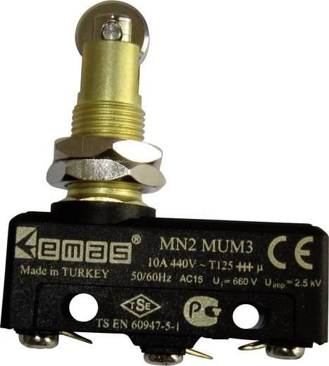 Mikroschalter 440 V/AC 10 A Rollenstößel tastend EMAS MN2MUM3 IP20 1 St.
