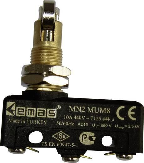Mikroschalter 440 V/AC 10 A Rollenstößel quer tastend EMAS MN2MUM8 IP20 1 St.