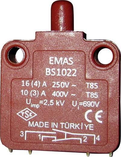 Schnappschalter 250 V/AC 16 A 1 x Aus/(Ein) EMAS BS1022 IP40 tastend 1 St.