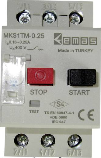 EMAS MKS1TM-0.25 Motorschutzschalter 400 V/AC 0.25 A 1 St.