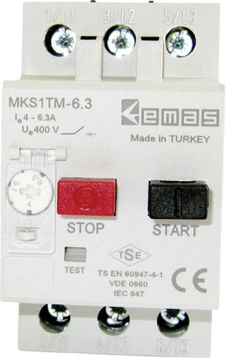 Motorschutzschalter 400 V/AC 6.3 A EMAS MKS1TM-6.3 1 St.