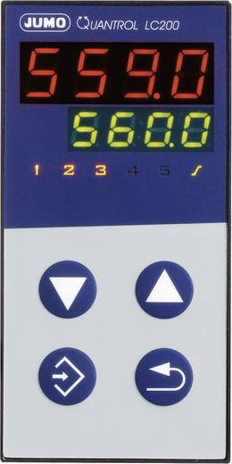 Jumo 598844 Temperaturregler L, J, T, K, E, N, S, R, Pt100, Pt1000, KTY Relais 3 A, RS 485 (L x B x H) 80 x 48 x 96 mm