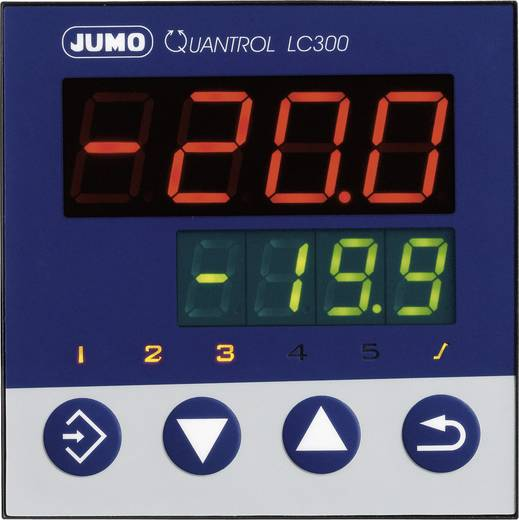 Jumo 598845 Temperaturregler L, J, T, K, E, N, S, R, Pt100, Pt1000, KTY Relais 3 A, RS 485 (L x B x H) 80 x 96 x 96 mm