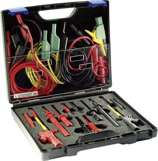 Sicherheits-Abgreifklemmen-Set Steckanschluss 4 mm, Steckanschluss 2 mm CAT III 1000 V Schwarz, Rot, Gelb-Grün SKS Hirsc