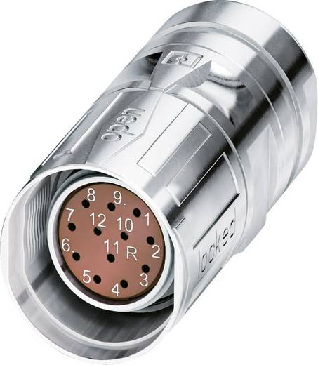M23 Feedbacksteckverbinder mit SPEEDCON CA-12F1N8A8503S Silber Phoenix Contact Inhalt: 1 St.
