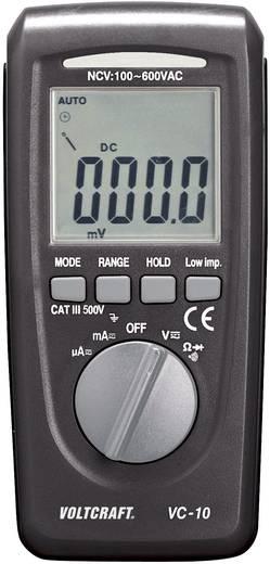 Hand-Multimeter digital VOLTCRAFT VC10 Kalibriert nach: Werksstandard CAT III 600 V Anzeige (Counts): 4000