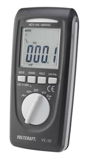 Hand-Multimeter digital VOLTCRAFT VC-10 Kalibriert nach: ISO CAT III 600 V Anzeige (Counts): 4000