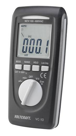 VOLTCRAFT VC-10 Hand-Multimeter digital Kalibriert nach: ISO CAT III 600 V Anzeige (Counts): 4000