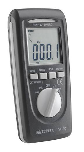 Hand-Multimeter digital VOLTCRAFT VC-10 Kalibriert nach: DAkkS CAT III 600 V Anzeige (Counts): 4000