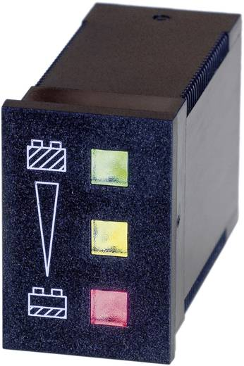 Bauser 824 12 V Batteriewächter 824 - 12 V/DC grün: ≥ 12 V, gelb: < 12 V ≥ 11 V, rot: < 11 V Einbaumaße 22 x 33 mm