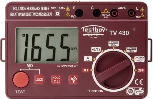 Testboy TV 430N Digitales Isolationsmessgerät, Prüfspannungen 250/500/1000 V/DC, Messbereich 0,25 - 2000 MΩ, CAT II 600 V