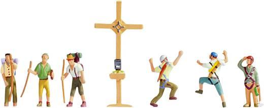 NOCH 45874 TT Figuren Bergwanderer mit Gipfelkreuz