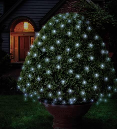 Lichternetz Außen 230 V/50 Hz 96 LED Kalt-Weiß (L x B) 300 cm x 300 cm Polarlite