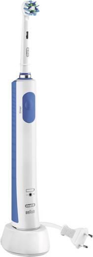Elektrische Zahnbürste Oral-B Pro 600 Cross Action Rotierend/Oszilierend Weiß, Mittel-Blau