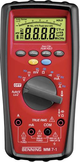 Hand-Multimeter digital Benning MM 7-1 Kalibriert nach: Werksstandard (ohne Zertifikat) CAT III 1000 V, CAT IV 600 V An