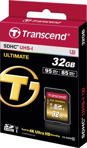 SDHC-Karte 32 GB Transcend Extreme Class 10, UHS-I, UHS-Class 3