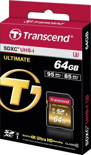 SDXC-Karte 64 GB Transcend Ultimate Class 10, UHS-I, UHS-Class 3