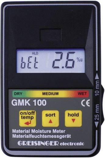 Materialfeuchtemessgerät Greisinger GMK 100 Messbereich Baufeuchtigkeit (Bereich) 0 bis 8 % vol Messbereich Holzfeuchtigkeit (Bereich) 0 bis 100 % vol