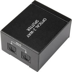 HDMI splitter Toslink SpeaKa, 2 porty, čierna