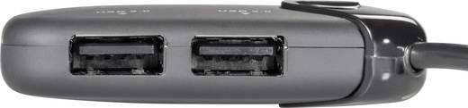 3 Port USB 2.0-Hub mit micro USB 3.0 Stecker, mit eingebautem SD-Kartenleser, mit OTG-Funktion Renkforce Schwarz