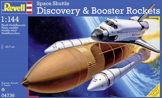 Revell 4736 Space Shuttle Discovery & Booster Raumfahrtmodell Bausatz 1:144