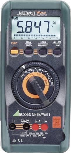 Gossen Metrawatt METRAHIT WORLD Hand-Multimeter digital Kalibriert nach: DAkkS CAT III 1000 V, CAT IV 600 V Anzeige (Co