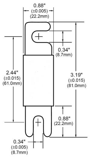 ANL-Sicherung 400 A 32 V/AC Bussmann ANL-400 1 St.