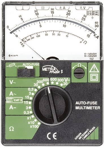 Hand-Multimeter analog Gossen Metrawatt Metramax 3 Kalibriert nach: Werksstandard Sicherungsautomat CAT II 600 V, CAT III 300 V