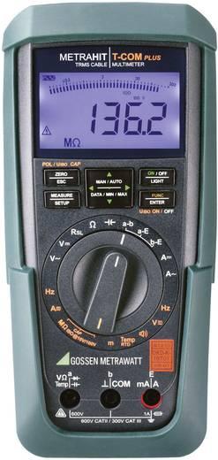 Hand-Multimeter digital Gossen Metrawatt METRAHIT T Com plus Kalibriert nach: DAkkS CAT II 600 V, CAT III 300 V Anzeige