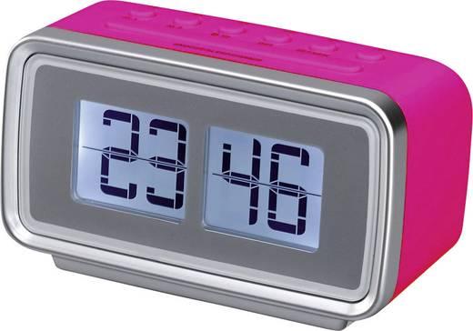 SILVA SCHNEIDER UR 2400 Retro UKW Radiowecker Pink