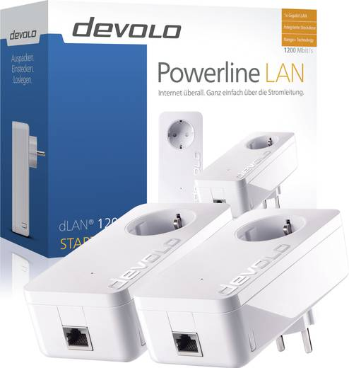 Devolo dLAN® 1200+ Powerline Starter Kit 1.2 Gbit/s